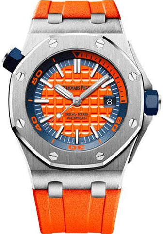 Audemars Piguet Royal Oak Offshore Diver Special Edition Watch-Orange Dial 42mm-15710ST.OO.A070CA.01 - Luxury Time NYC INC
