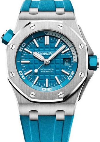 Audemars Piguet Royal Oak Offshore Diver Watch-Blue Dial 42mm-15710ST.OO.A032CA.01 - Luxury Time NYC INC