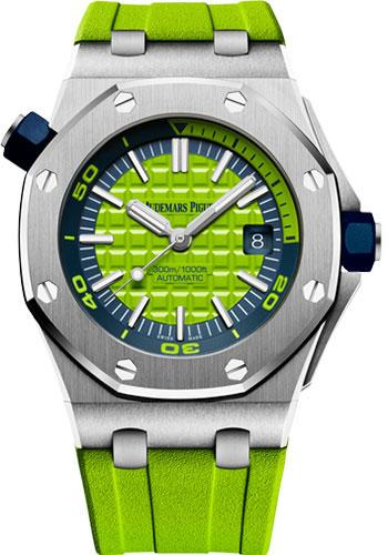 Audemars Piguet Royal Oak Offshore Diver Watch-Green Dial 42mm-15710ST.OO.A038CA.01 - Luxury Time NYC INC