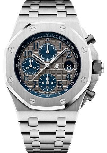 Audemars Piguet Royal Oak Offshore Selfwinding Chronograph Qeii Cup 2018 Watch-Grey Dial 42mm-26474TI.OO.1000TI.01 - Luxury Time NYC INC