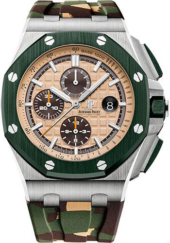 Audemars Piguet Royal Oak Offshore Selfwinding Chronograph Watch-beige Dial 44mm-26400SO.OO.A054CA.01 - Luxury Time NYC INC