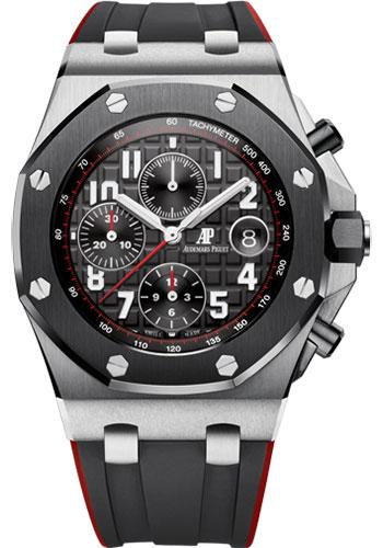 Audemars Piguet Royal Oak Offshore Selfwinding Chronograph Watch-Black Dial 42mm-26470SO.OO.A002CA.01 - Luxury Time NYC INC