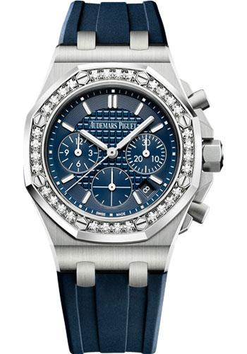 Audemars Piguet Royal Oak Offshore Selfwinding Chronograph Watch-Blue Dial 37mm-26231ST.ZZ.D027CA.01 - Luxury Time NYC INC