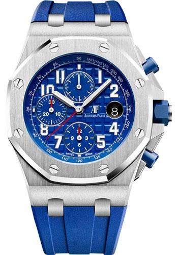 Audemars Piguet Royal Oak Offshore Selfwinding Chronograph Watch-Blue Dial 42mm-26470ST.OO.A030CA.01 - Luxury Time NYC INC