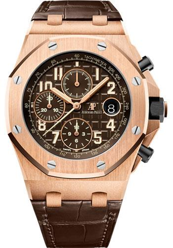 Audemars Piguet Royal Oak Offshore Selfwinding Chronograph Watch-Brown Dial 42mm-26470OR.OO.A099CR.01 - Luxury Time NYC INC