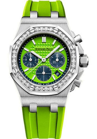 Audemars Piguet Royal Oak Offshore Selfwinding Chronograph Watch-Green Dial 37mm-26231ST.ZZ.D038CA.01 - Luxury Time NYC INC