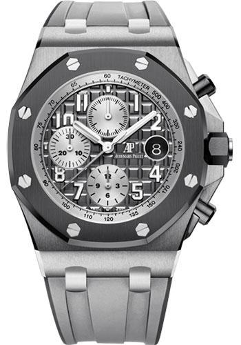 Audemars Piguet Royal Oak Offshore Selfwinding Chronograph Watch-Grey Dial 42mm-26470IO.OO.A006CA.01 - Luxury Time NYC INC