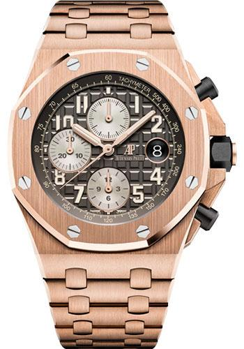 Audemars Piguet Royal Oak Offshore Selfwinding Chronograph Watch-Grey Dial 42mm-26470OR.OO.1000OR.02 - Luxury Time NYC INC