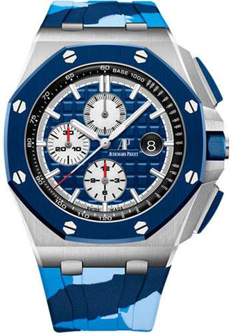 Audemars Piguet Royal Oak Offshore Selfwinding Chronograph Watch Limited Edition of 400-Blue Dial 44mm-26400SO.OO.A335CA.01 - Luxury Time NYC INC