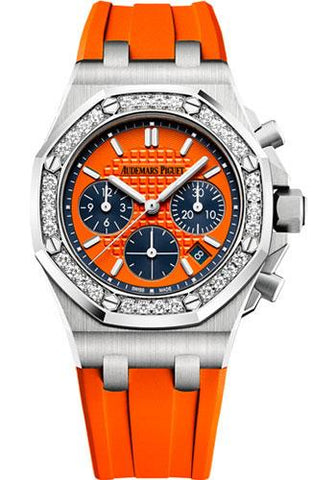 Audemars Piguet Royal Oak Offshore Selfwinding Chronograph Watch-Orange Dial 37mm-26231ST.ZZ.D070CA.01 - Luxury Time NYC INC
