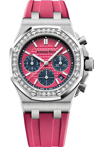 Audemars Piguet Royal Oak Offshore Selfwinding Chronograph Watch-Pink Dial 37mm-26231ST.ZZ.D069CA.01 - Luxury Time NYC INC