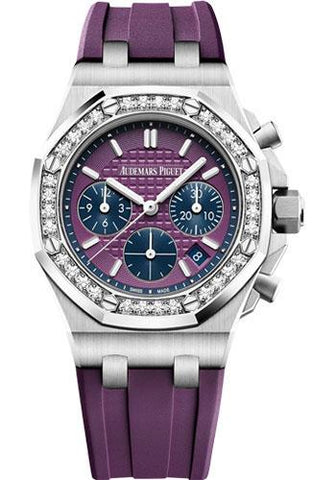 Audemars Piguet Royal Oak Offshore Selfwinding Chronograph Watch-Pink Dial 37mm-26231ST.ZZ.D075CA.01 - Luxury Time NYC INC