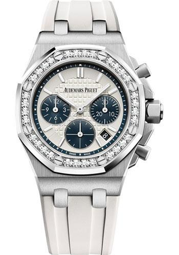Audemars Piguet Royal Oak Offshore Selfwinding Chronograph Watch-Silver Dial 37mm-26231ST.ZZ.D010CA.01 - Luxury Time NYC INC