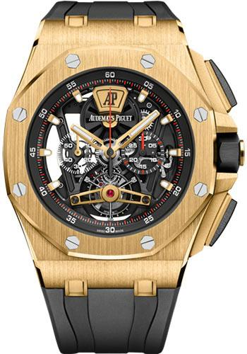 Audemars Piguet Royal Oak Offshore Tourbillon Chronograph Watch-Black Dial 44mm-26407BA.OO.A002CA.01 - Luxury Time NYC INC