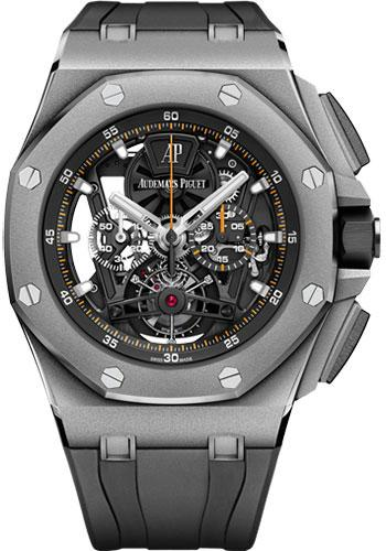 Audemars Piguet Royal Oak Offshore Tourbillon Chronograph Watch-Black Dial 44mm-26407TI.GG.A002CA.01 - Luxury Time NYC INC