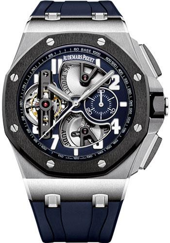Audemars Piguet Royal Oak Offshore Tourbillon Chronograph Watch-Blue Dial 44mm-26388PO.OO.D027CA.01 - Luxury Time NYC INC