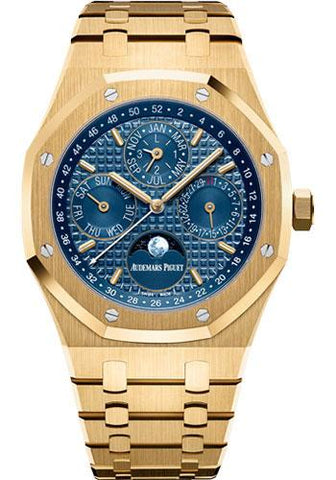 Audemars Piguet Royal Oak Perpetual Calendar Watch-Blue Dial 41mm-26574BA.OO.1220BA.01 - Luxury Time NYC INC