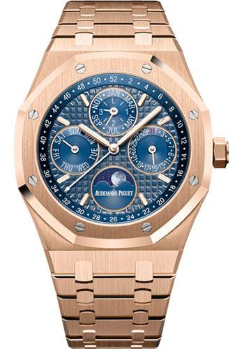 Audemars Piguet Royal Oak Perpetual Calendar Watch-Blue Dial 41mm-26574OR.OO.1220OR.02 - Luxury Time NYC INC