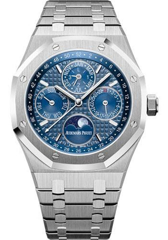 Audemars Piguet Royal Oak Perpetual Calendar Watch-Blue Dial 41mm-26574ST.OO.1220ST.02 - Luxury Time NYC INC