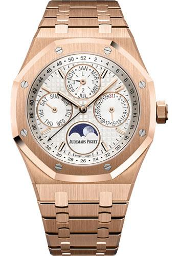 Audemars Piguet Royal Oak Perpetual Calendar Watch-Silver Dial 41mm-26574OR.OO.1220OR.01 - Luxury Time NYC INC