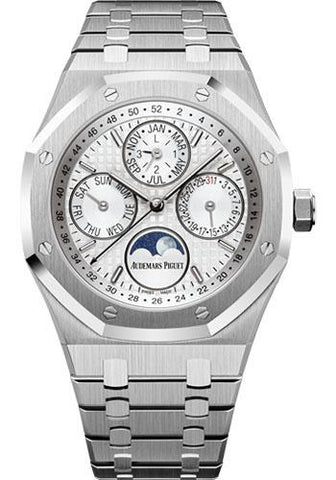 Audemars Piguet Royal Oak Perpetual Calendar Watch-Silver Dial 41mm-26574ST.OO.1220ST.01 - Luxury Time NYC INC