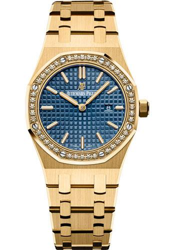 Audemars Piguet Royal Oak Quartz Watch-Blue Dial 33mm-67651BA.ZZ.1261BA.02 - Luxury Time NYC INC