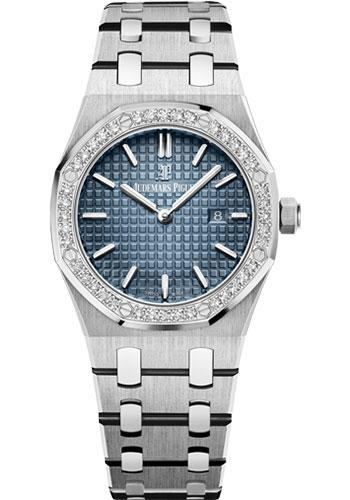 Audemars Piguet Royal Oak Quartz Watch-Blue Dial 33mm-67651IP.ZZ.1261IP.01 - Luxury Time NYC INC