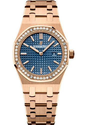 Audemars Piguet Royal Oak Quartz Watch-Blue Dial 33mm-67651OR.ZZ.1261OR.02 - Luxury Time NYC INC