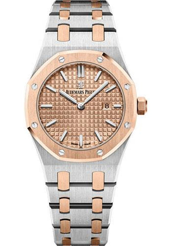 Audemars Piguet Royal Oak Quartz Watch-Pink Dial 33mm-67650SR.OO.1261SR.01 - Luxury Time NYC INC