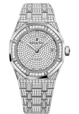 Audemars Piguet Royal Oak Self Winding Watch-Diamond Dial 37mm-15452BC.ZZ.1258BC.01 - Luxury Time NYC INC