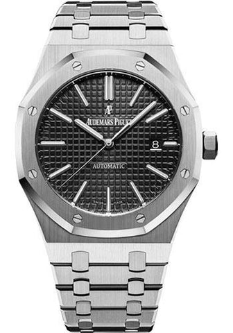 Audemars Piguet Royal Oak Selfwinding Watch - 41mm - Stainless Steel - Black Dial - Calibre 3120-Black Dial 41mm-15400ST.OO.1220ST.01 - Luxury Time NYC INC