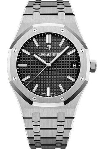 Audemars Piguet Royal Oak Selfwinding Watch - 41mm - Stainless Steel - Black Dial - Calibre 4302-Black Dial 41mm-15500ST.OO.1220ST.03 - Luxury Time NYC INC