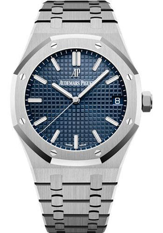 Audemars Piguet Royal Oak Selfwinding Watch - 41mm - Stainless Steel - Blue Dial - Calibre 4302-Blue Dial 41mm-15500ST.OO.1220ST.01 - Luxury Time NYC INC