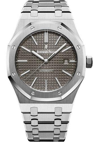 Audemars Piguet Royal Oak Selfwinding Watch - 41mm - Stainless Steel - Grey Dial - Calibre 3120-Grey Dial 41mm-15400ST.OO.1220ST.04 - Luxury Time NYC INC