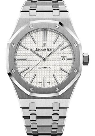 Audemars Piguet Royal Oak Selfwinding Watch - 41mm - Stainless Steel - Silver Dial - Calibre 3120-Silver Dial 41mm-15400ST.OO.1220ST.02 - Luxury Time NYC INC