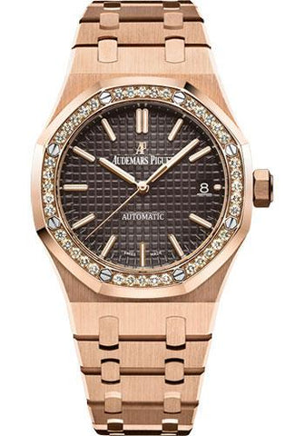 Audemars Piguet Royal Oak Selfwinding Watch-Brown Dial 37mm-15451OR.ZZ.1256OR.04 - Luxury Time NYC INC