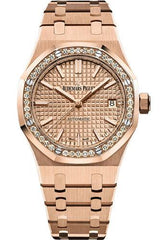 Audemars Piguet Royal Oak Selfwinding Watch-Pink Dial 37mm-15451OR.ZZ.1256OR.03 - Luxury Time NYC INC