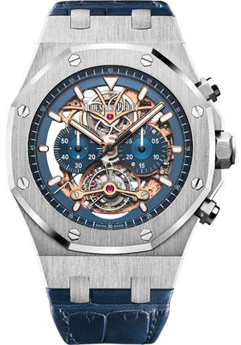 Audemars Piguet Royal Oak Tourbillon Chronograph Openworked Watch-Dial 44mm-26347PT.OO.D315CR.01 - Luxury Time NYC INC