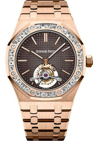 Audemars Piguet Royal Oak Tourbillon Extra-Thin Watch-Brown Dial 41mm-26516OR.ZZ.1220OR.01 - Luxury Time NYC INC