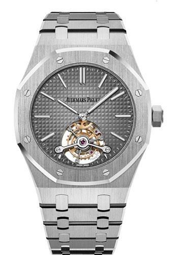 Audemars Piguet Royal Oak Tourbillon Extra-Thin Watch-Grey Dial 41mm-26510PT.OO.1220PT.01 - Luxury Time NYC INC