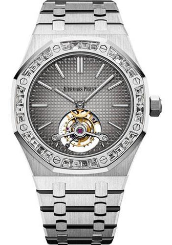 Audemars Piguet Royal Oak Tourbillon Extra-Thin Watch-Grey Dial 41mm-26516PT.ZZ.1220PT.01 - Luxury Time NYC INC