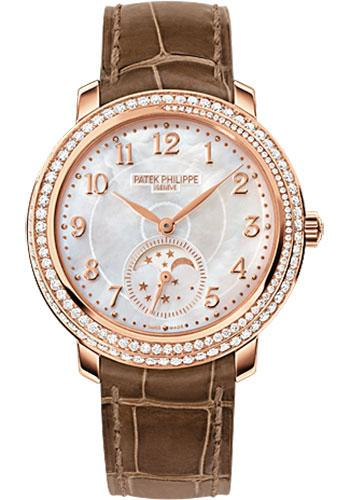 Patek Philippe 33.3mm Ladies Complications Watch White Dial 4968R - Luxury Time NYC INC