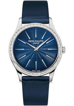Load image into Gallery viewer, Patek Philippe 33mm Ladies' Calatrava Watch Blue Dial 4897/300G - Luxury Time NYC INC