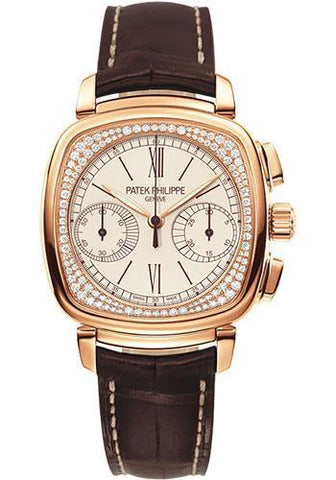 Patek Philippe 33mm Ladies First Chronograph Complicated Watch White Dial 7071R - Luxury Time NYC INC