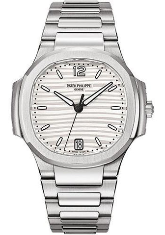 Patek Philippe 35.2mm Ladies' Automatic Nautilus Watch Opaline Dial 7118/1A - Luxury Time NYC INC