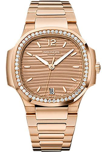 Patek Philippe 35.2mm Ladies Nautilus Watch Brown Dial 7118/1200R - Luxury Time NYC INC