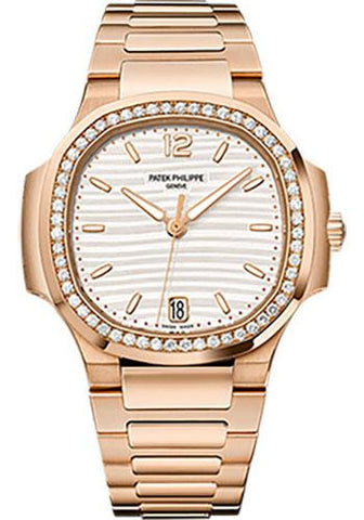 Patek Philippe 35.2mm Ladies Nautilus Watch Opaline Dial 7118/1200R - Luxury Time NYC INC