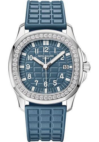 Patek Philippe 35.6mm Aquanaut Luce - 35.6mm - Steel - Blue-Gray Embossed Dial Blue Dial 5067A - Luxury Time NYC INC