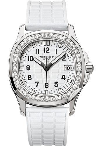 Patek Philippe 35.6mm Aquanaut Luce Glitter White Watch White Dial 5067A - Luxury Time NYC INC