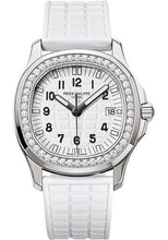 Load image into Gallery viewer, Patek Philippe 35.6mm Aquanaut Luce Glitter White Watch White Dial 5067A - Luxury Time NYC INC